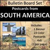 South America Bulletin Board Set - Postcards