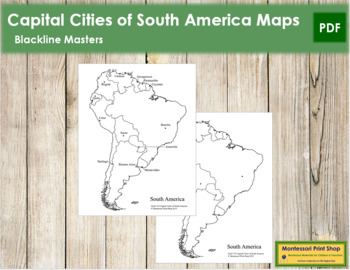 South America Capital Cities Map