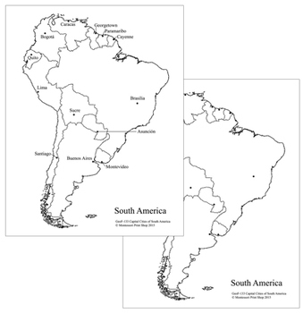 South American Capital Cities Map