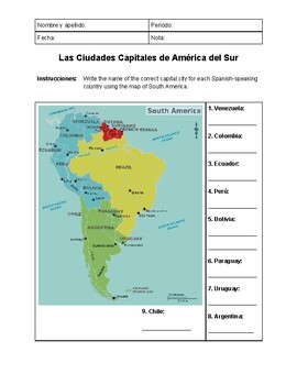 South America Capitals on south of spain, latin america map in spanish, us map in spanish, caribbean map in spanish, south chile, south america map in espanol, south america capitals map test, capitals of south america in spanish, map of spanish speaking countries in spanish, central america in spanish, map of peru south america in spanish, south america with capitals test, south american countries and capitals in spanish, south america spanish translation, north american map spanish, south america and its capitals, south america map w capitals, south argentina, south usa, south in spanish crossword,