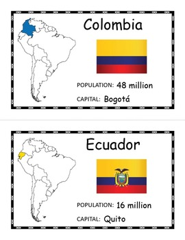 South America Geography Posters