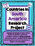 South America Countries Research Project