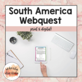 South America Countries Webquest