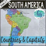 South America Countries and Capitals Map (works with Dista