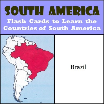 South America - Country Flash Cards - Learn the Countries