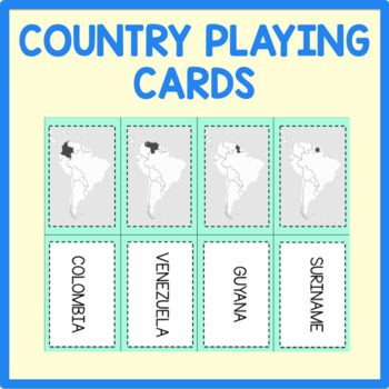 South America Country Playing Cards