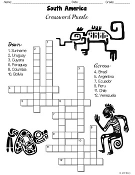 South America Crossword Puzzles