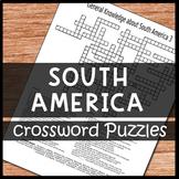 South America Crossword Puzzles