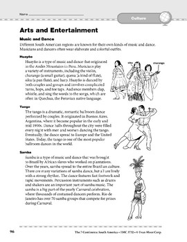 South America: Culture: Arts and Entertainment
