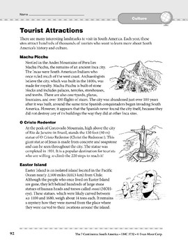 South America: Culture: Tourist Attractions