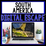 South America DIGITAL ESCAPE ROOM for Google Drive® Distance Learning