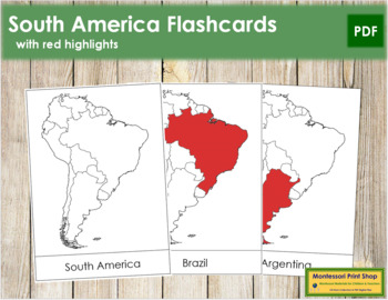 South America Flashcards (Red)