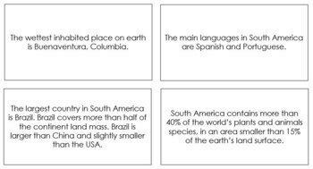 South America Fun Facts