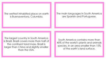 South America Fun Facts (color borders)