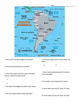 South America: Geographic Map