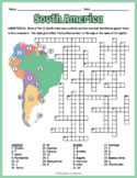 South America Geography Crossword Puzzle