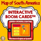 South America Geography Boom Cards, Click and Type to Play, Geography, Maps