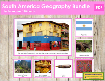 South America Geography Continent Bundle - (Color Borders)