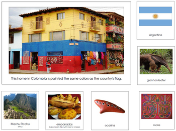 South America Geography Continent Bundle - Montessori Geography Cards