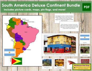 South America Geography Deluxe Bundle