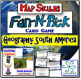 Fan and Pick Card Game : South America Map Skills - A Kagan strategy