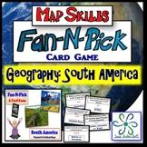 Fan and Pick Card Game : South America Map Skills - A Kaga