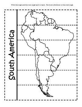 South America Geography Flip Book