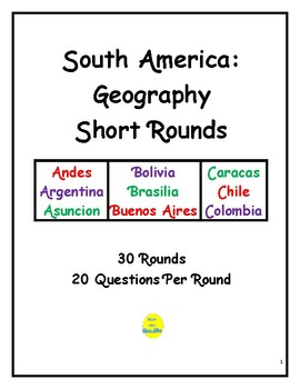 South America Geography Short Rounds