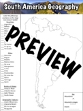 South America Geography Worksheet