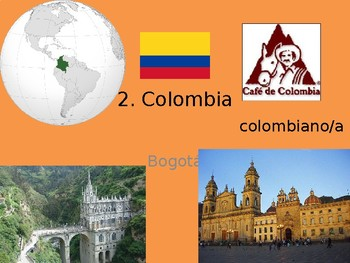 South America -Geography and Fun Facts - Powerpoint, Worksheet, & Map