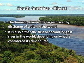 South America Geography PowerPoint