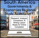 South America Government & Economy 1:1 for Google Classroo