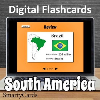 South America Interactive Flashcards