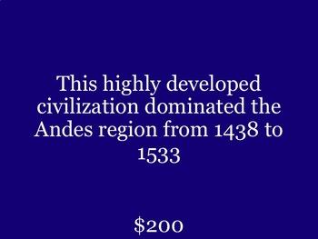 South America Jeopardy