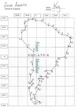 America Latitude And Longitude Coordinates Puzzle Coordinates - United states longitude and latitude