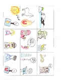 South America - Mainland Countries & Capitals Visual Mnemonic Flashcards