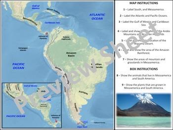 South America Geography & Map Homework
