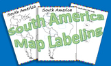 South America Map Labeling