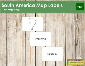 South America Map Labels - Pin Map Flags