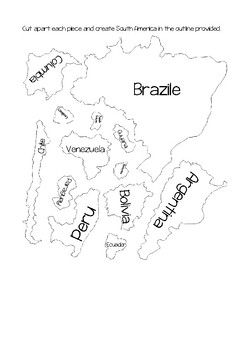 South America Map Puzzle
