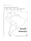 South America Map Quiz with Capitals