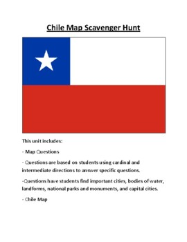 South America Map Scavenger Hunt