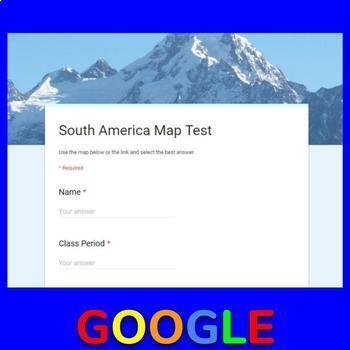 South America Map Test - Google Form
