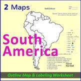 South America Map Worksheet