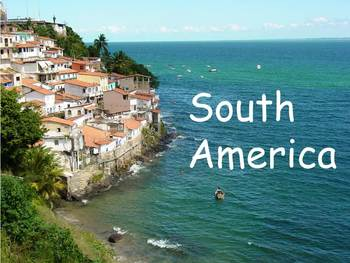 """South America Nonfiction PowerPoint """"Book"""" for First or Second Grade"""