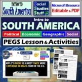 South America - P.E.G.S. ~ Practice Lesson & Student Worksheet ~