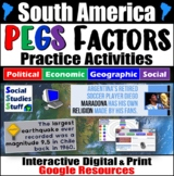 South America PEGS Factors Interactive, Digital Lesson for Google Classroom