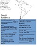 South America Passage + Guided Notetaking + Map (SOL 3.6)