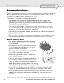 South America: Physical Features: Amazon Rainforest