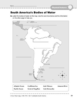 South America Physical Features Bodies Of Water Tpt